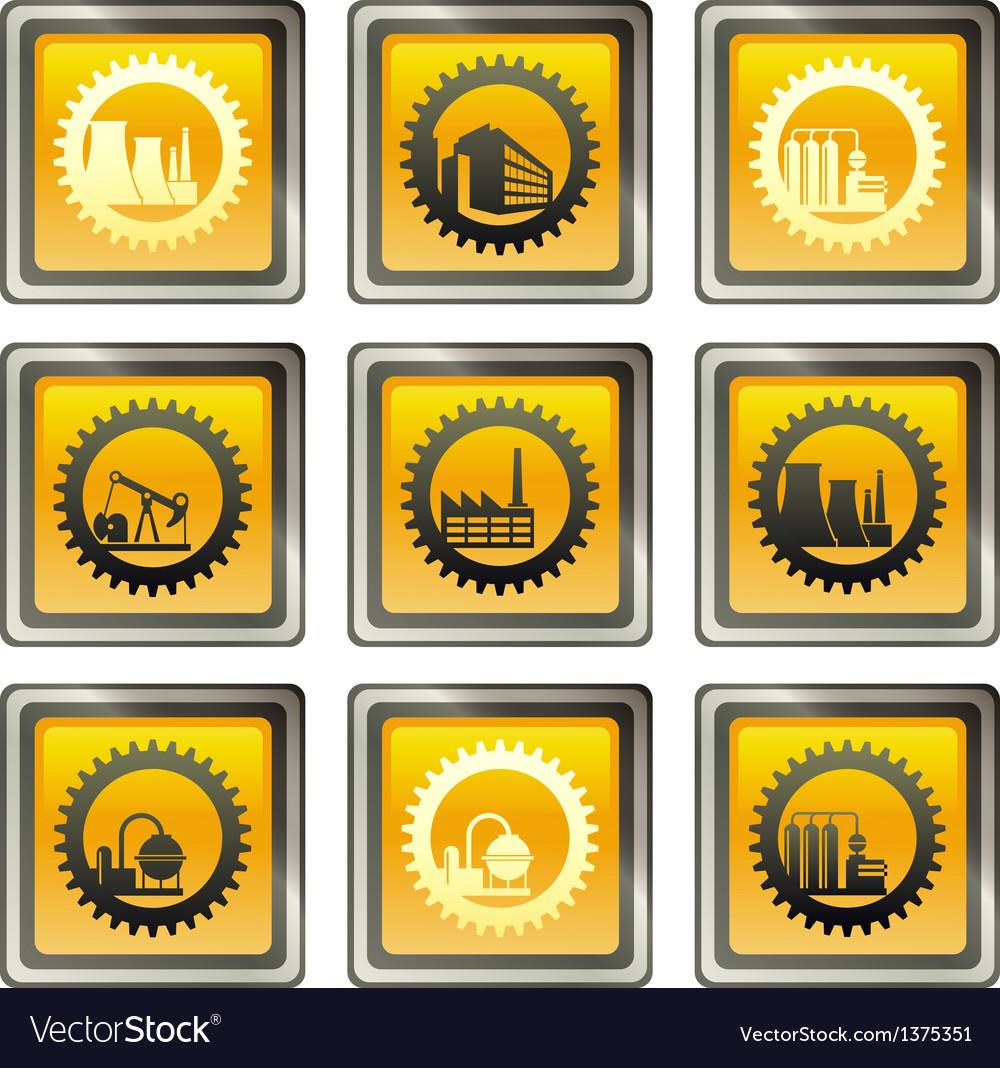 Industrial buildings vector | Price: 1 Credit (USD $1)
