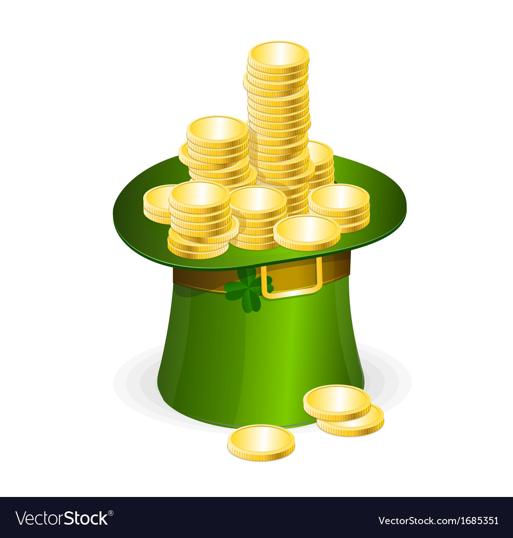 Patrick day  leprechaun hat vector | Price: 1 Credit (USD $1)