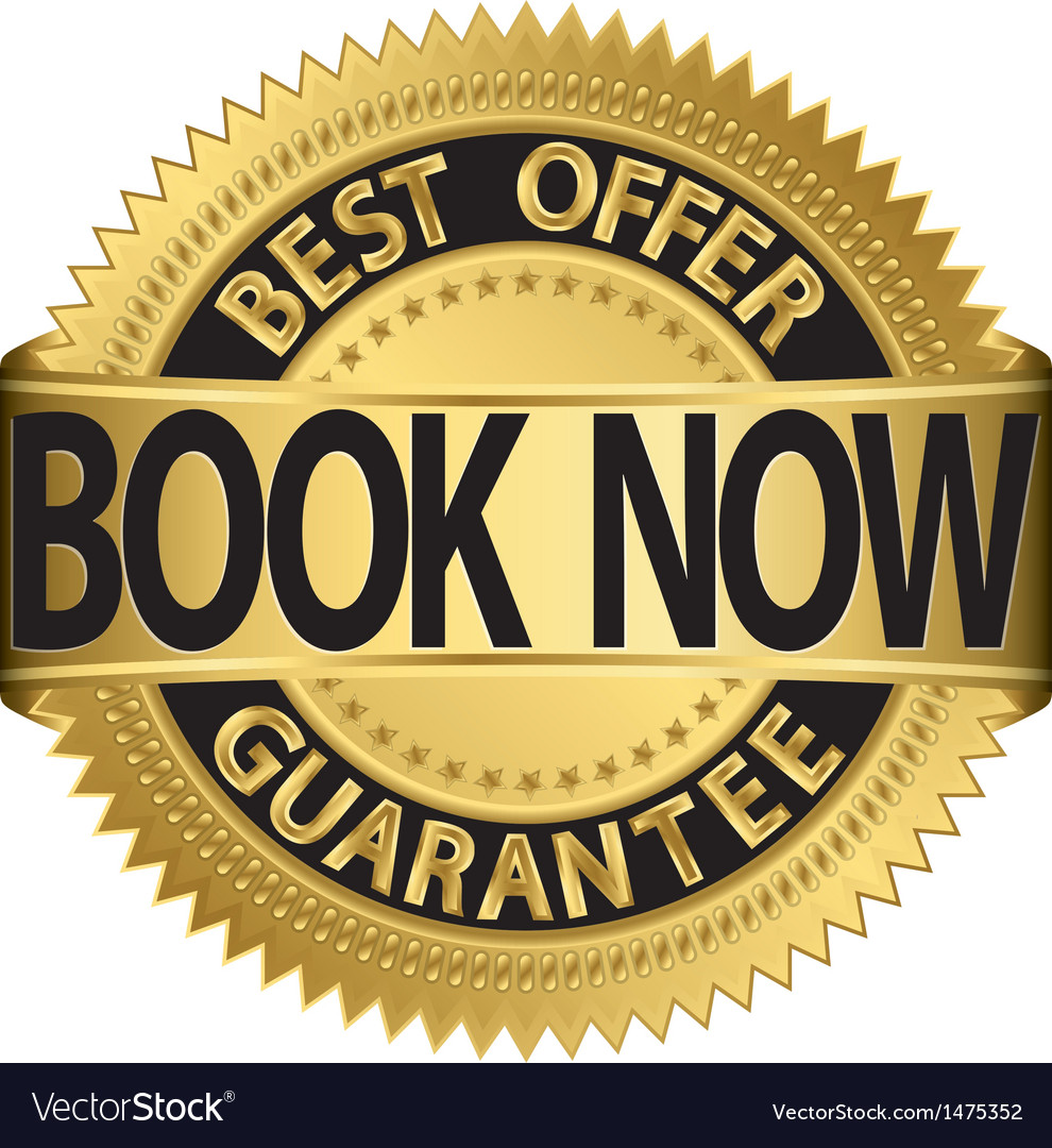 Book now best offer gold label vector | Price: 1 Credit (USD $1)