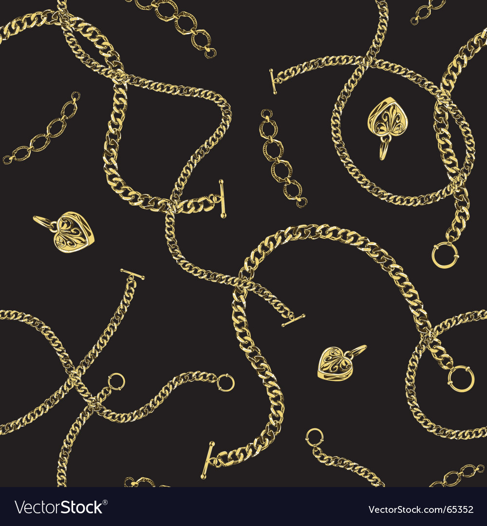 Jewelry chain pattern vector