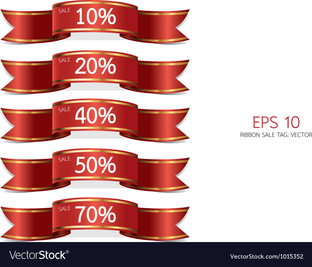 Ribbon sale tag vector | Price: 1 Credit (USD $1)