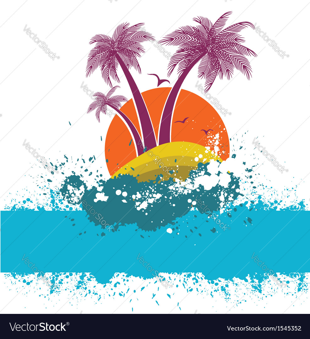 Symbol of tropical island vector | Price: 1 Credit (USD $1)