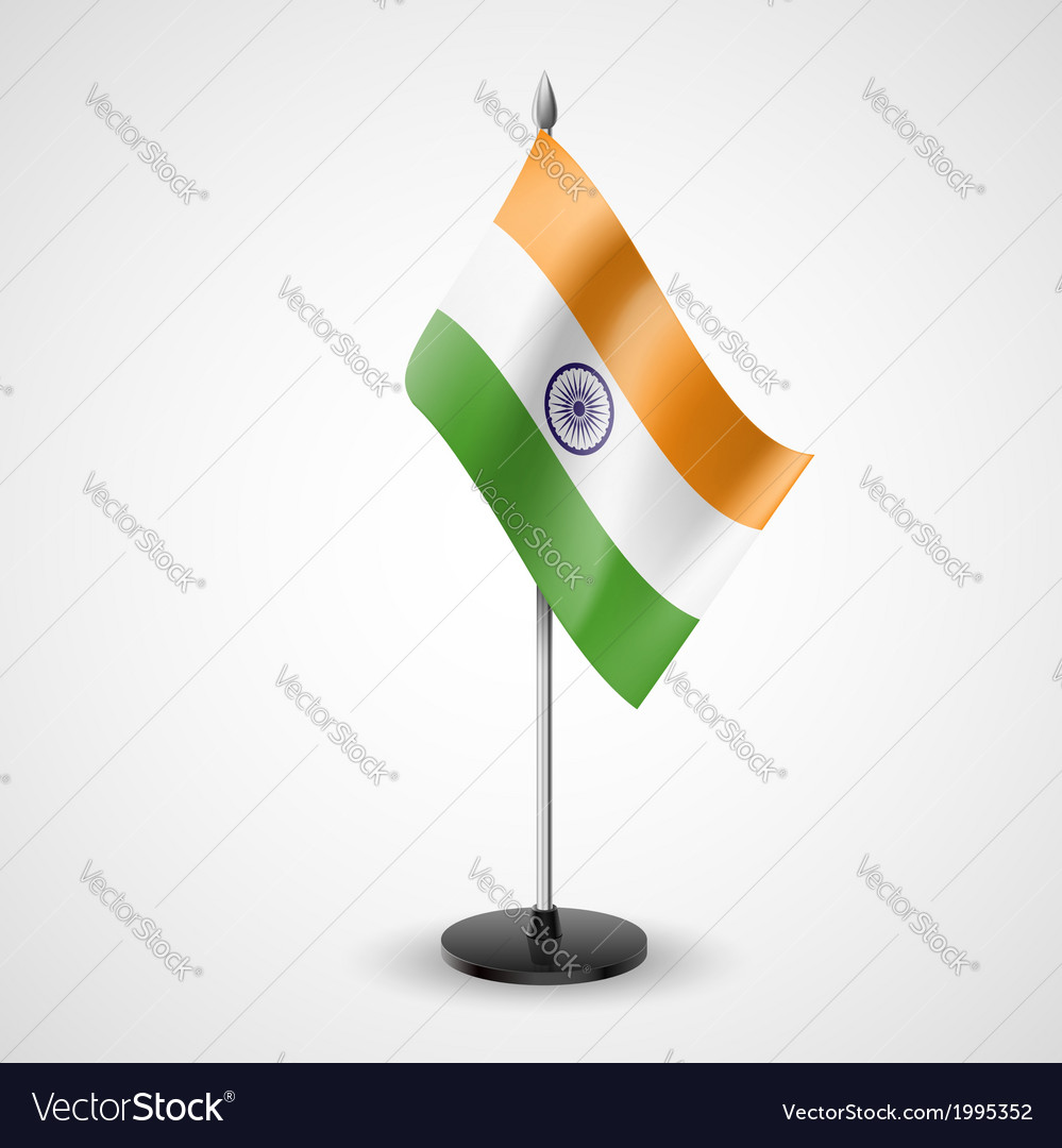 Table flag of india vector | Price: 1 Credit (USD $1)