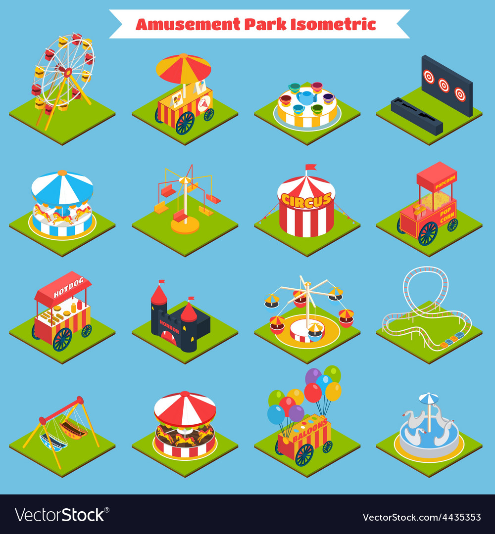 Amusement park isometric vector | Price: 1 Credit (USD $1)