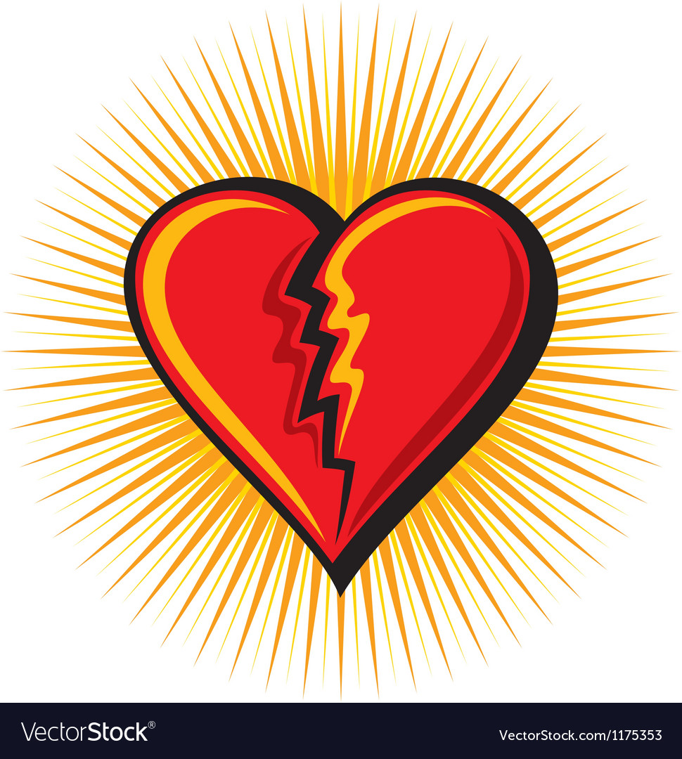 Broken heart vector | Price: 3 Credit (USD $3)