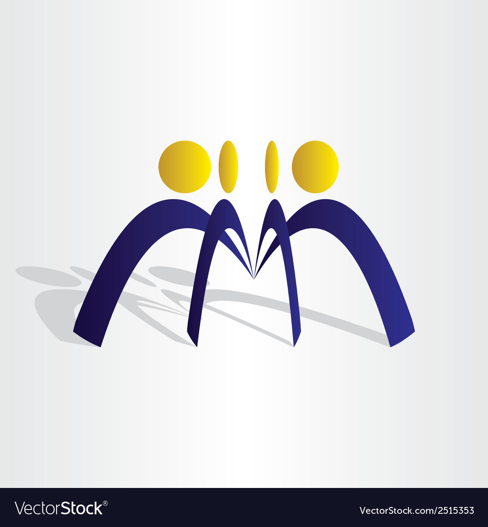 Business people team work vector | Price: 1 Credit (USD $1)