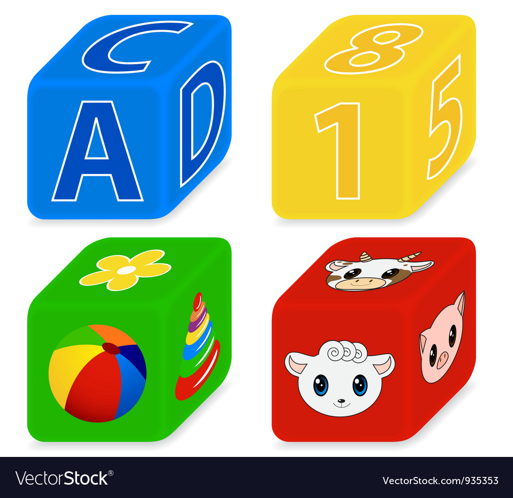 Cubes for kids vector | Price: 1 Credit (USD $1)