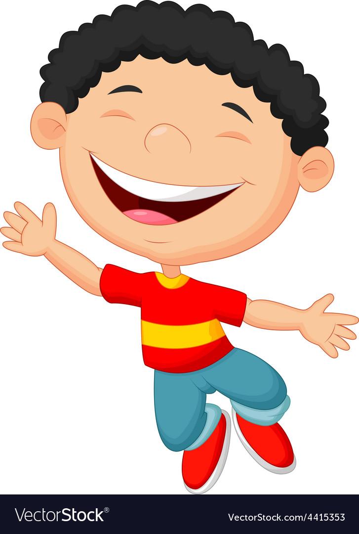 Cute boy cartoon posing vector | Price: 1 Credit (USD $1)