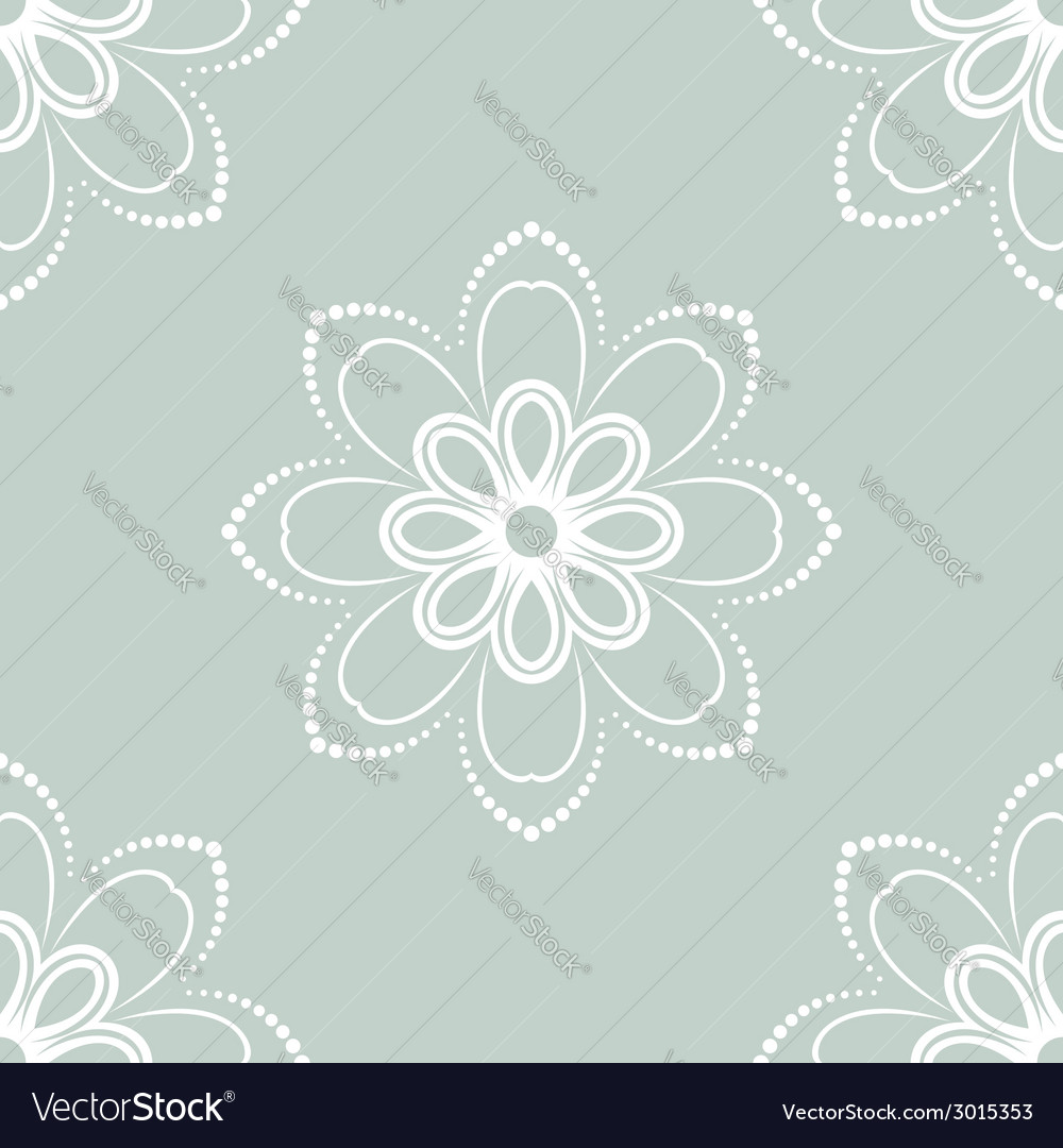 Floral seamless pattern orient abstract background vector | Price: 1 Credit (USD $1)