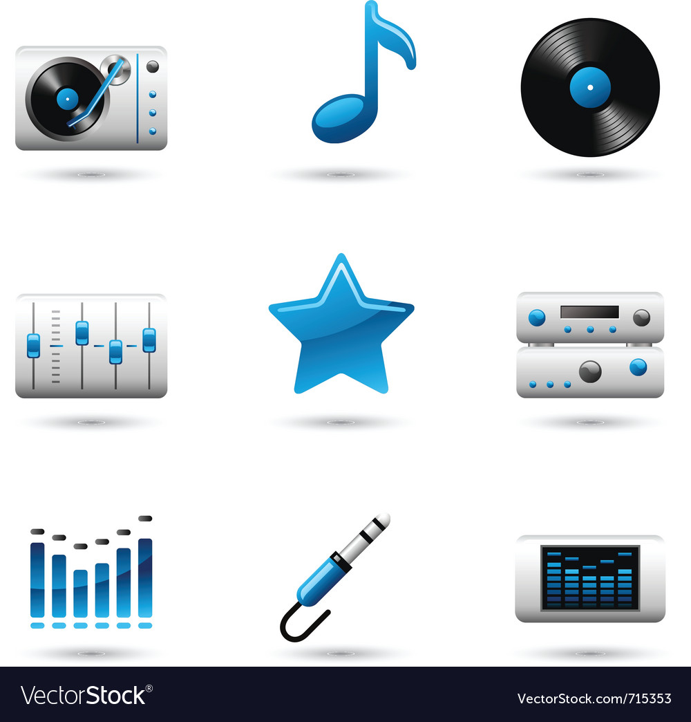 Music icons vector | Price: 3 Credit (USD $3)