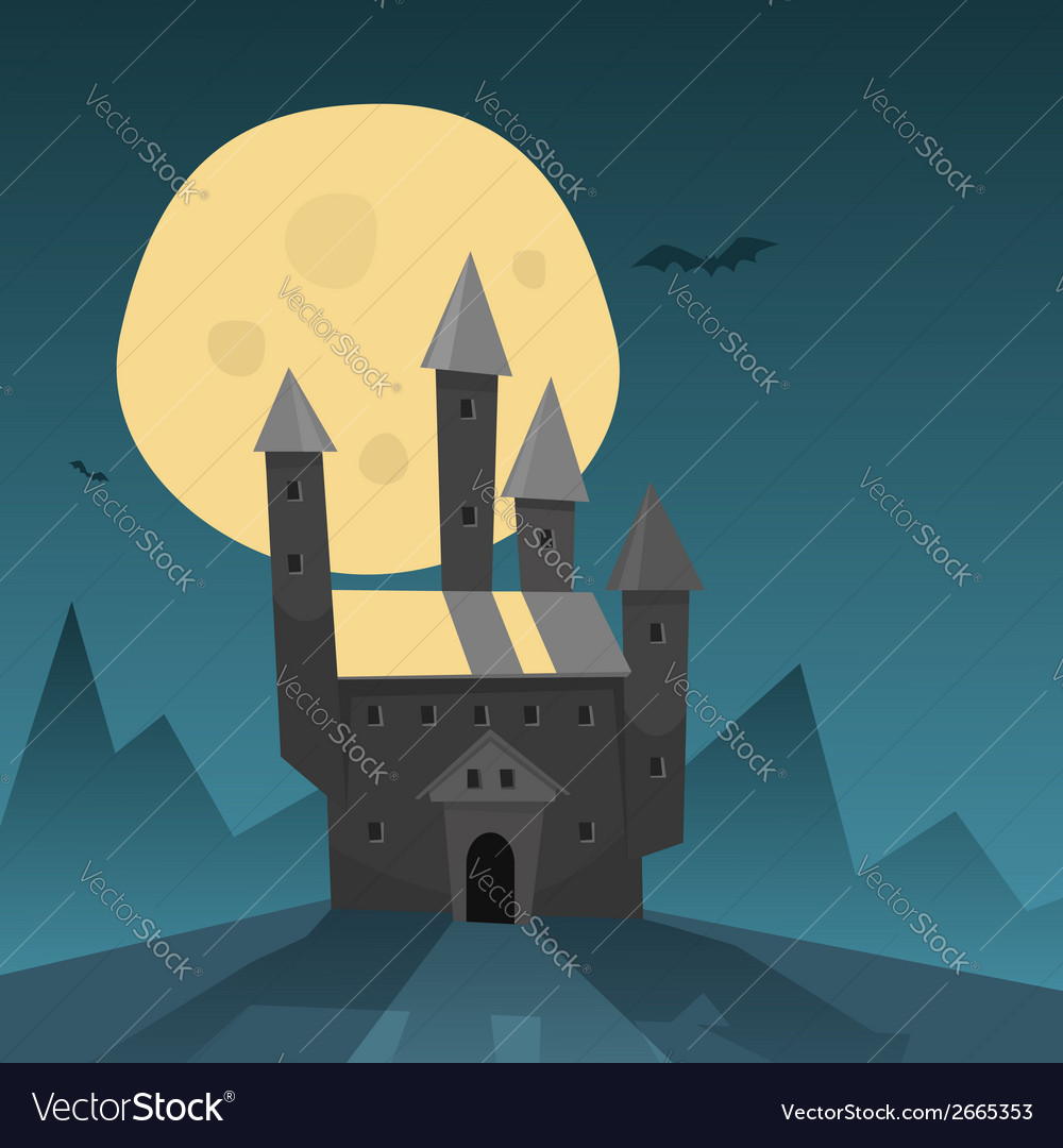 Old castle vector | Price: 1 Credit (USD $1)
