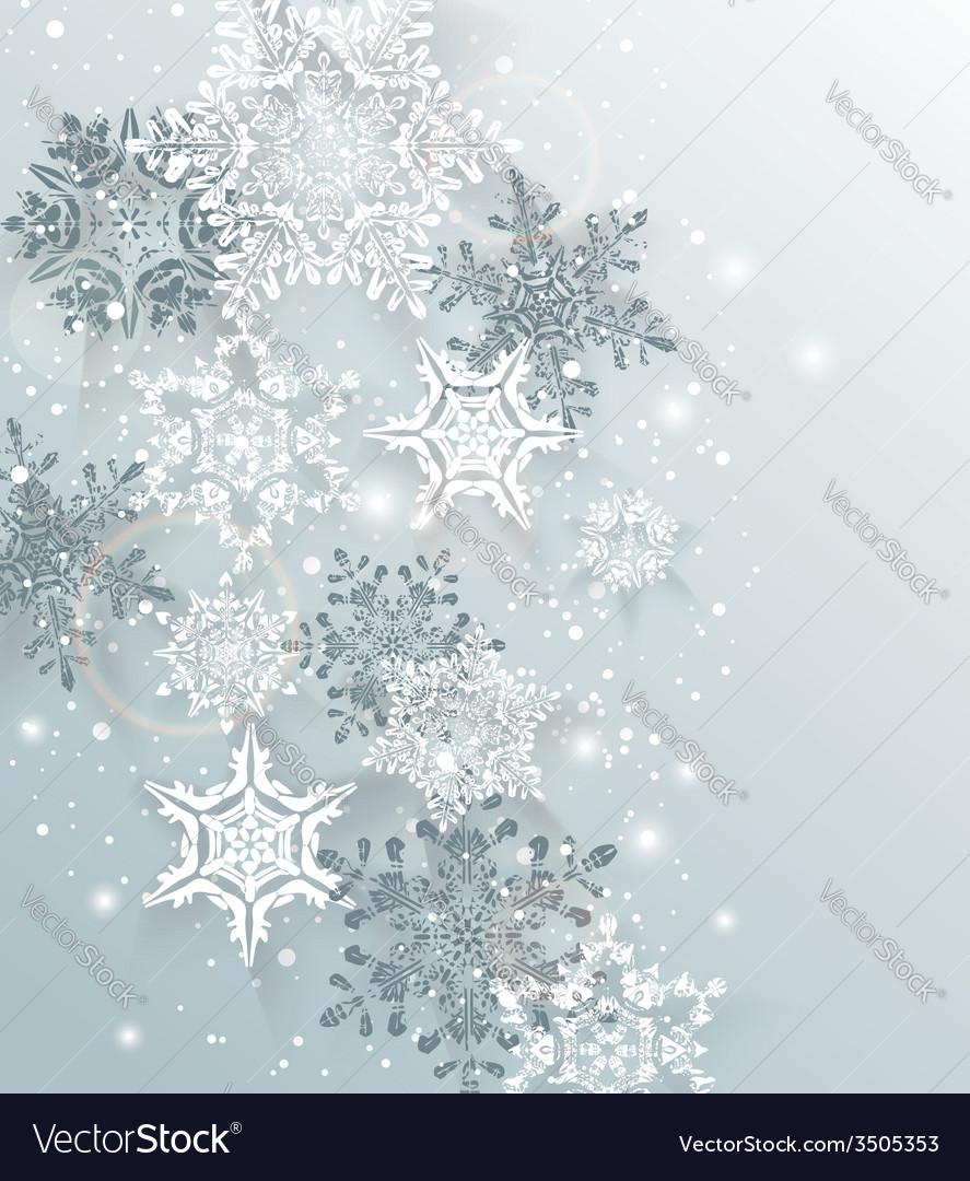 Silver winter abstract christmas background vector