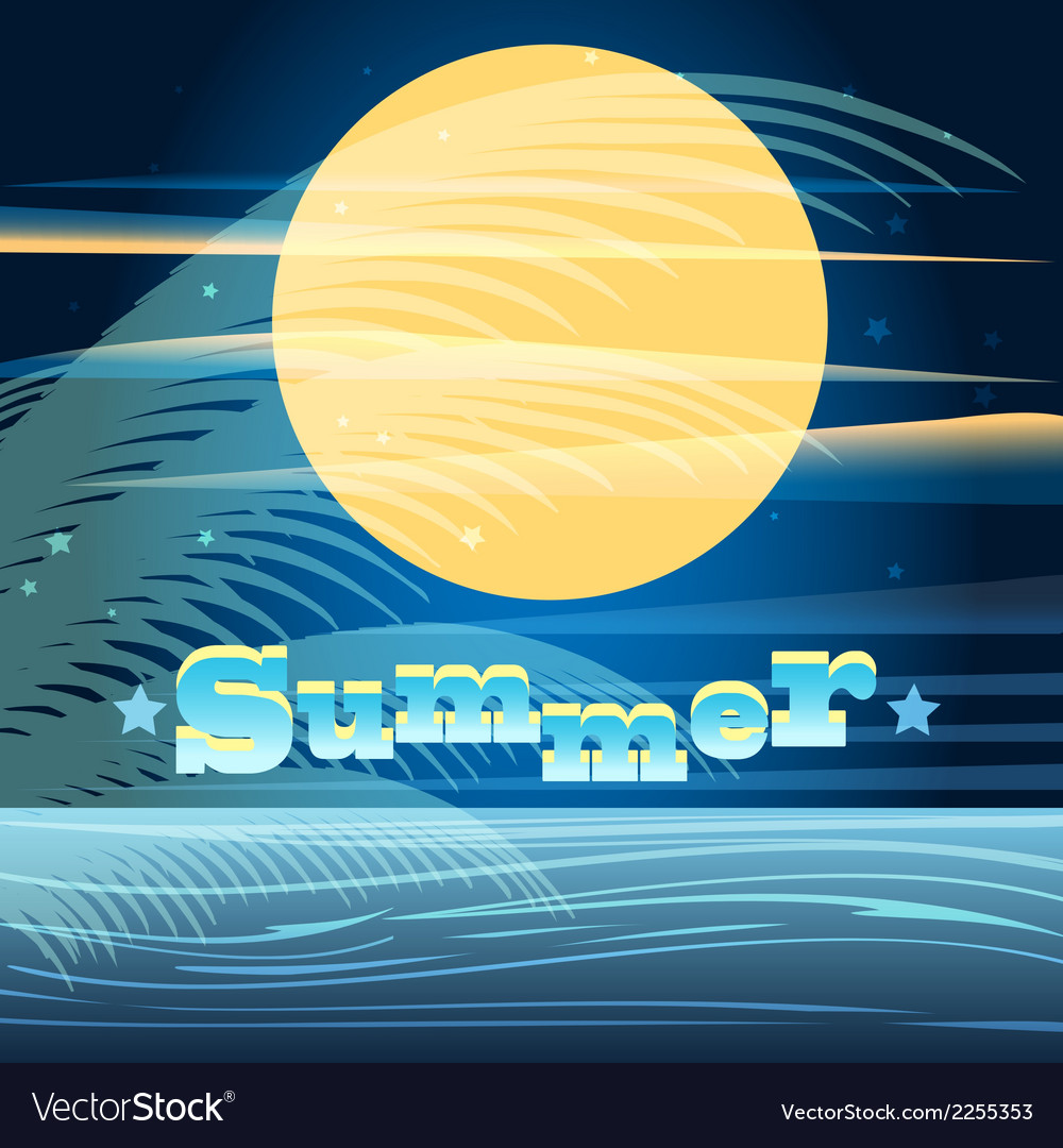 Summer night vector | Price: 1 Credit (USD $1)