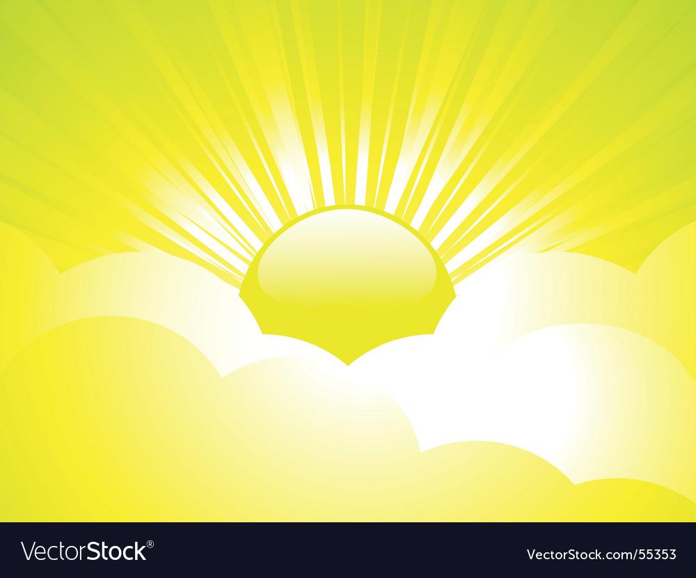 Summer sky vector | Price: 1 Credit (USD $1)
