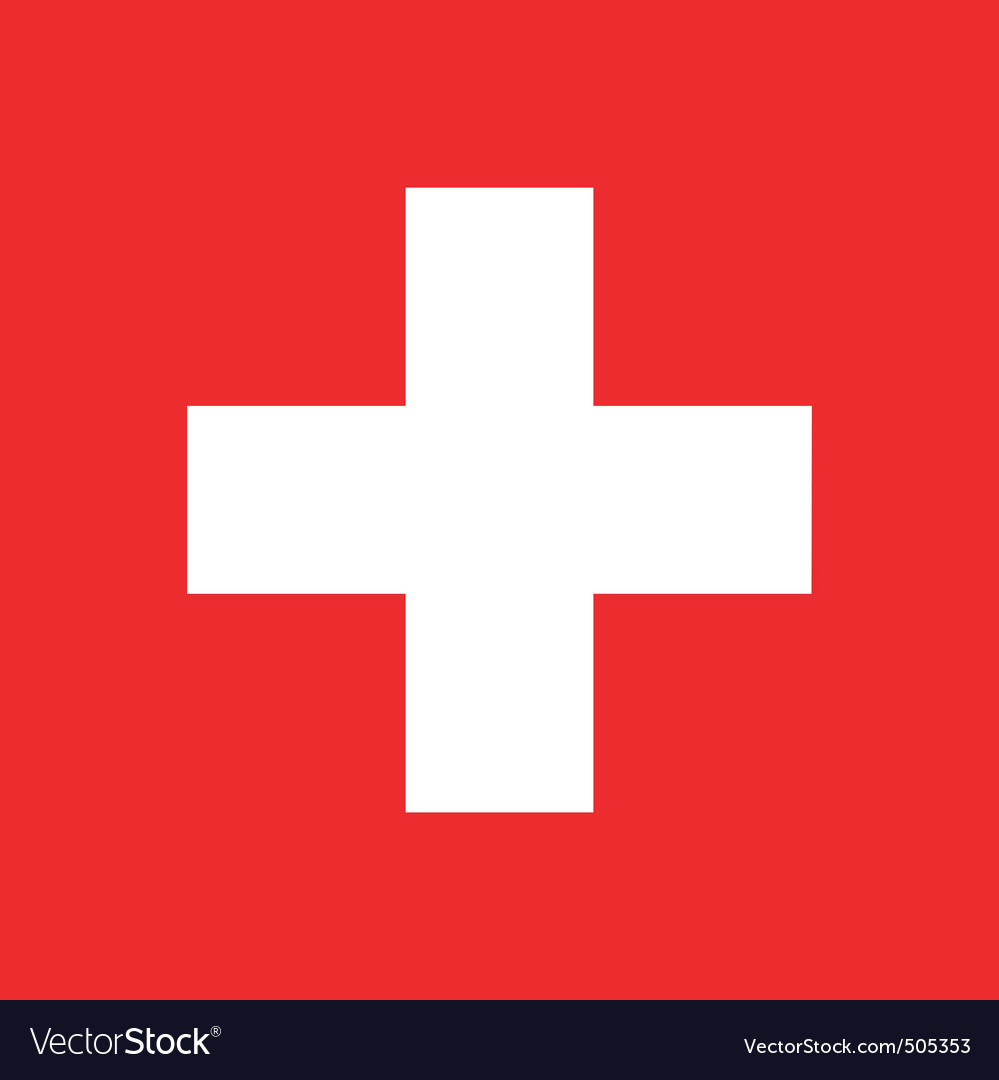Swiss flag vector | Price: 1 Credit (USD $1)