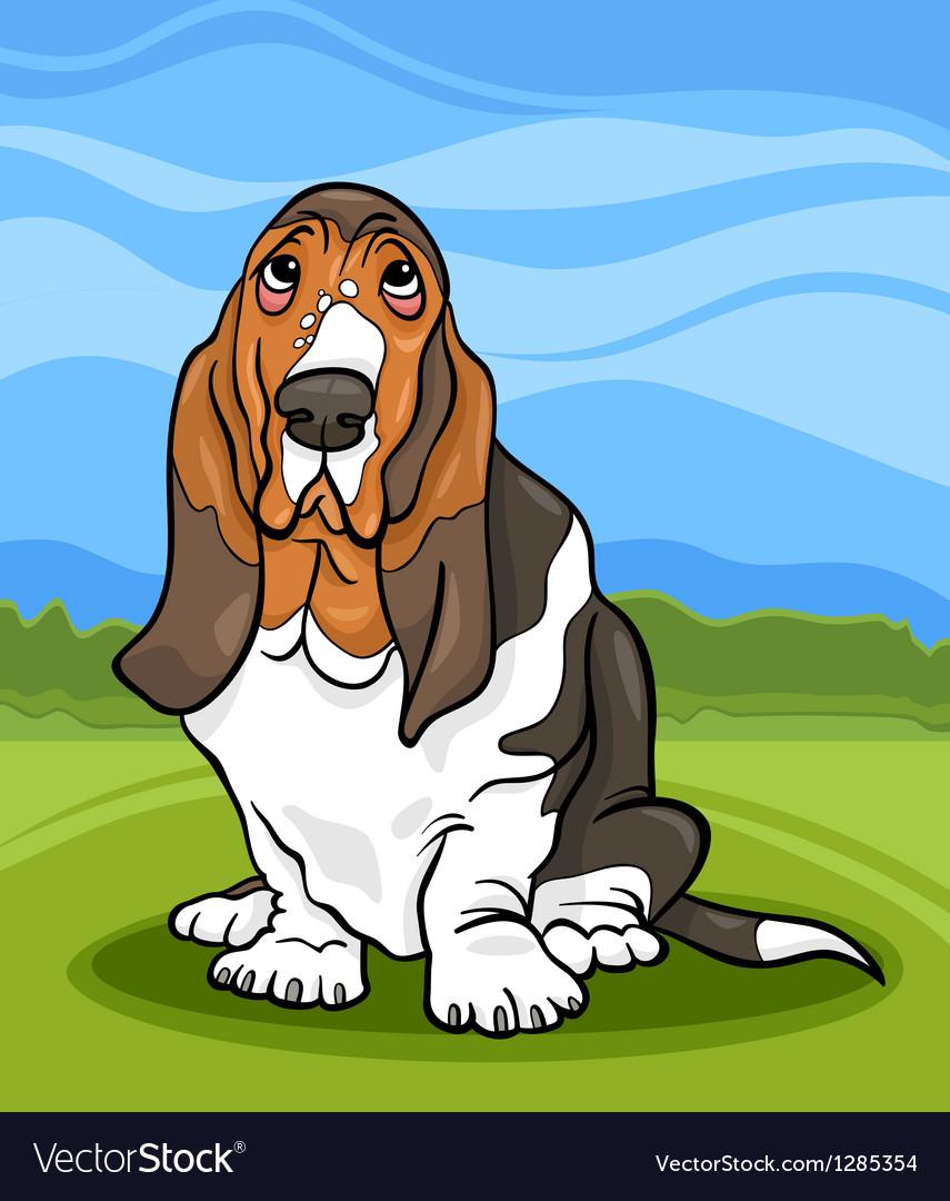 Basset hound dog cartoon vector | Price: 1 Credit (USD $1)