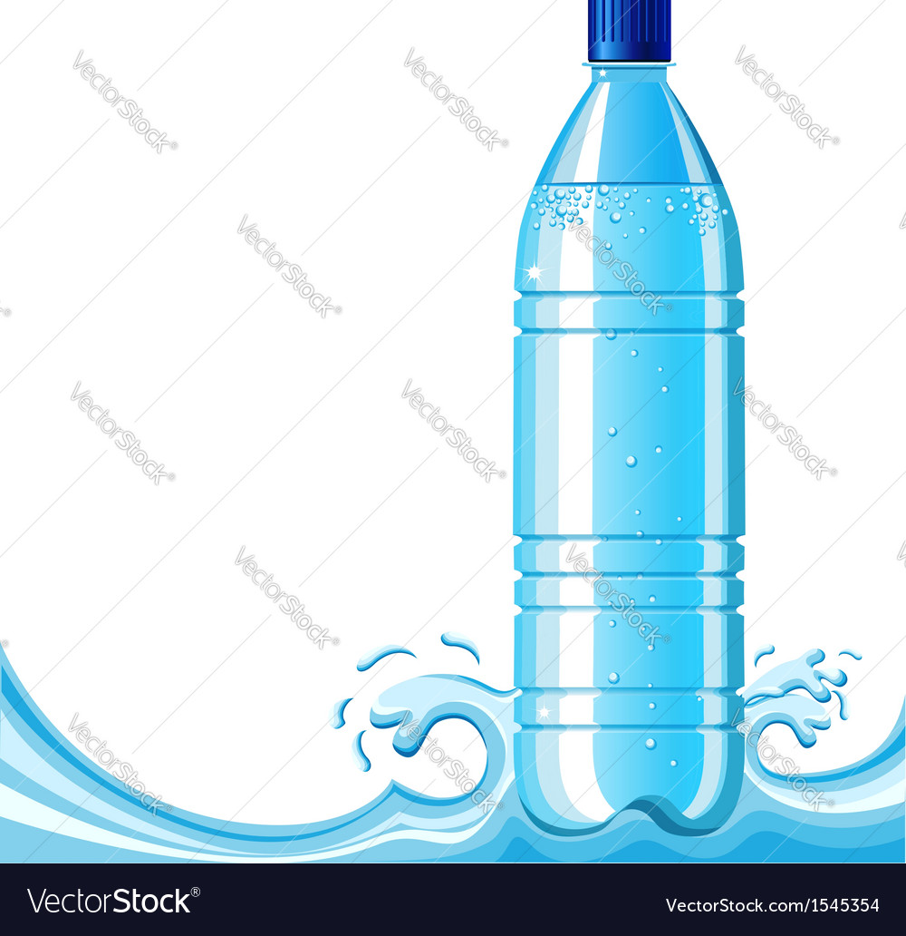 Bottle of clean water and splashing vector | Price: 1 Credit (USD $1)