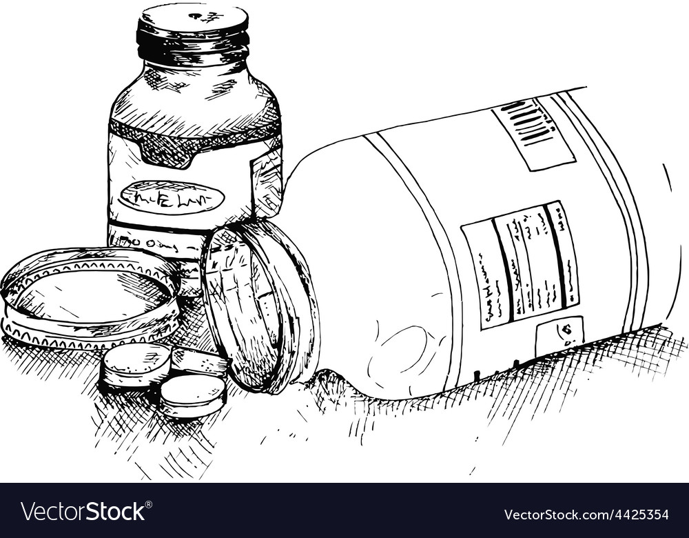 Bottles of pills vector | Price: 1 Credit (USD $1)