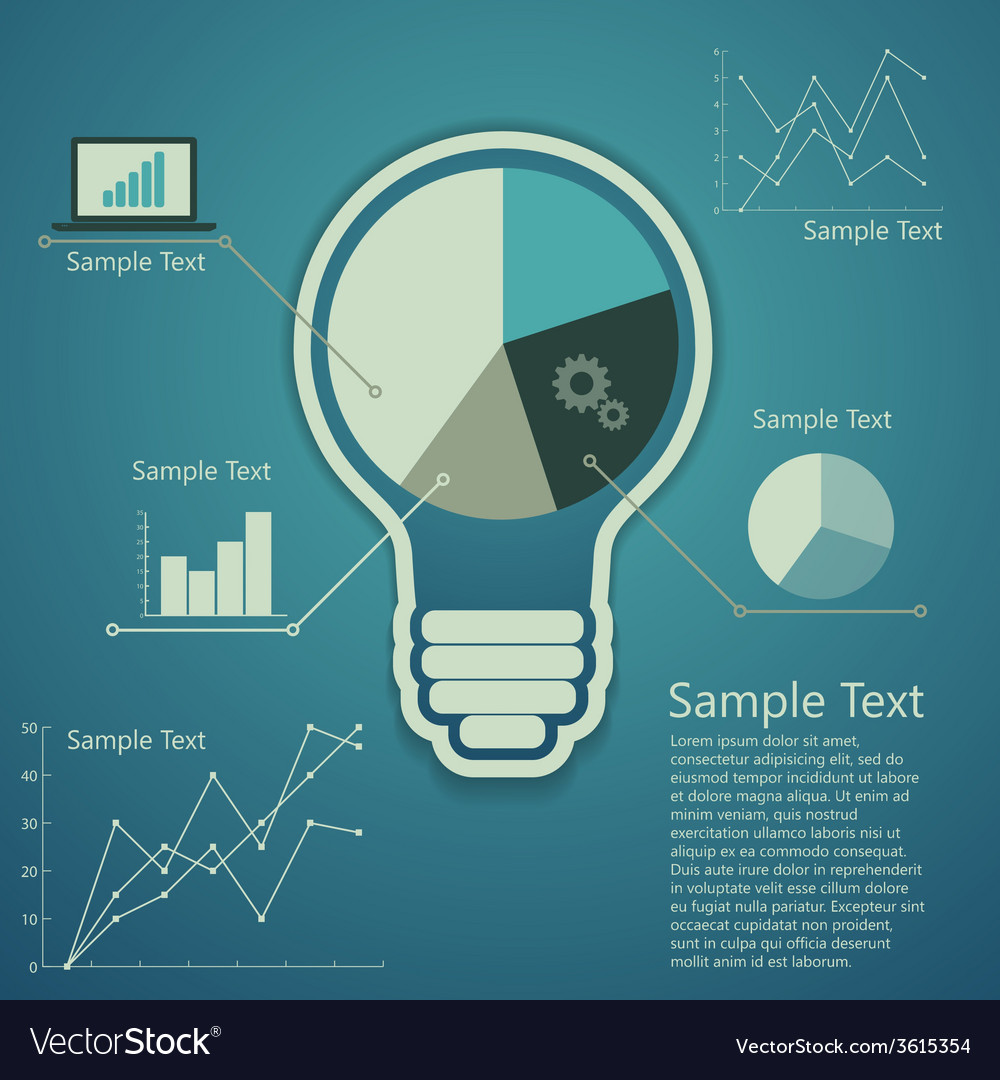 Bulb concept of success an idea vector | Price: 1 Credit (USD $1)