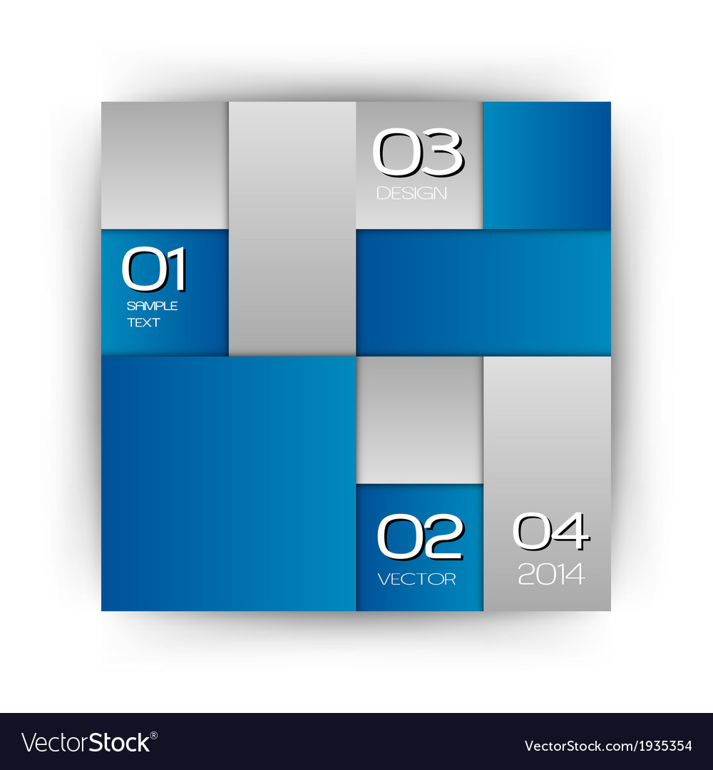 Business squares blue white with text vector | Price: 1 Credit (USD $1)