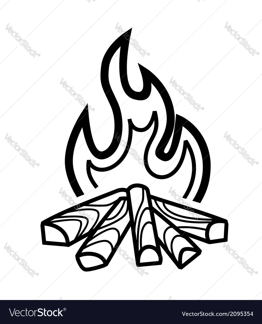 Campfire icon vector | Price: 1 Credit (USD $1)