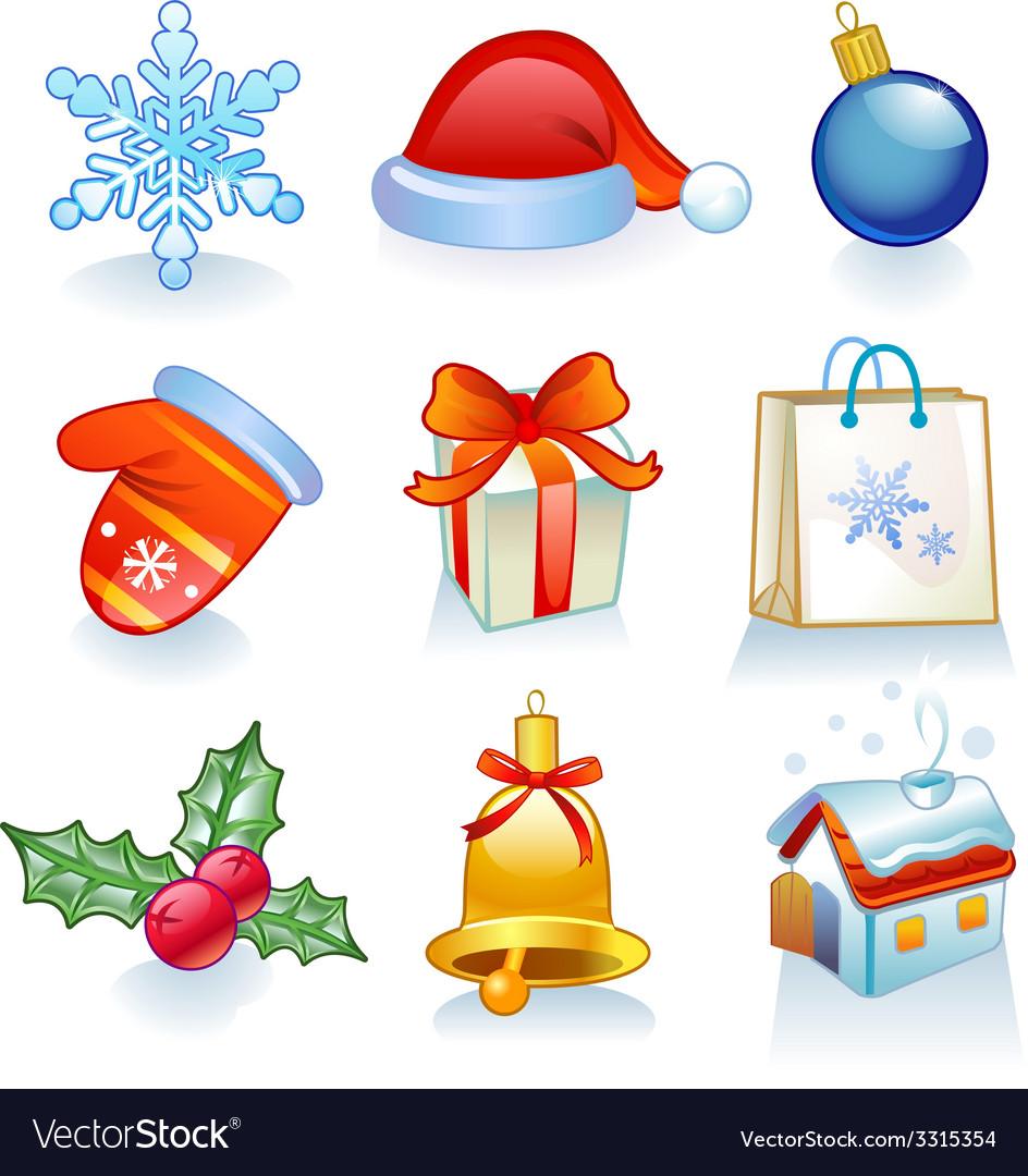 Christmas symbols vector | Price: 1 Credit (USD $1)
