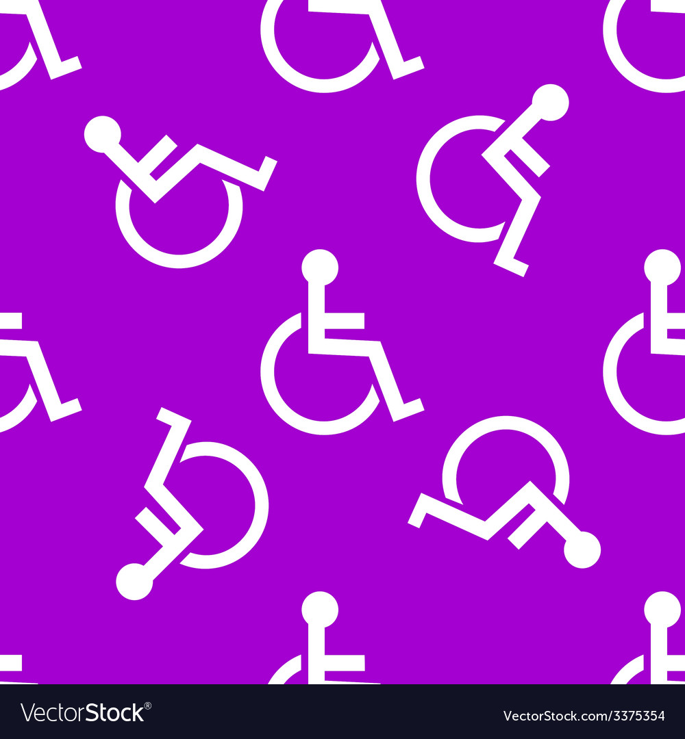 Disabled web icon flat design seamless pattern vector   Price: 1 Credit (USD $1)