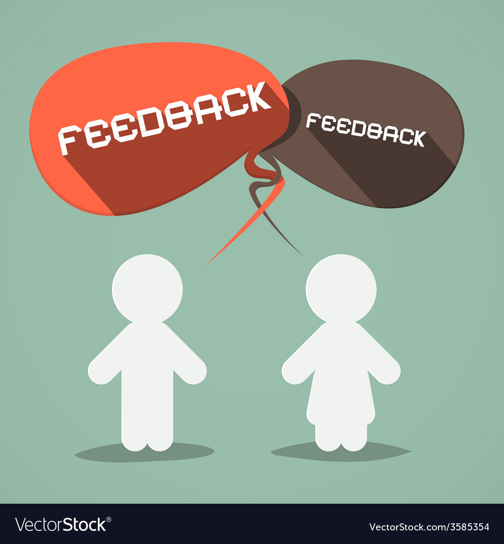 Feedback flat design symbol with paper people vector | Price: 1 Credit (USD $1)