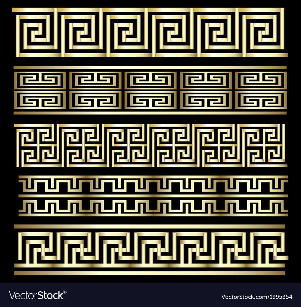 Gold meander design vector | Price: 1 Credit (USD $1)