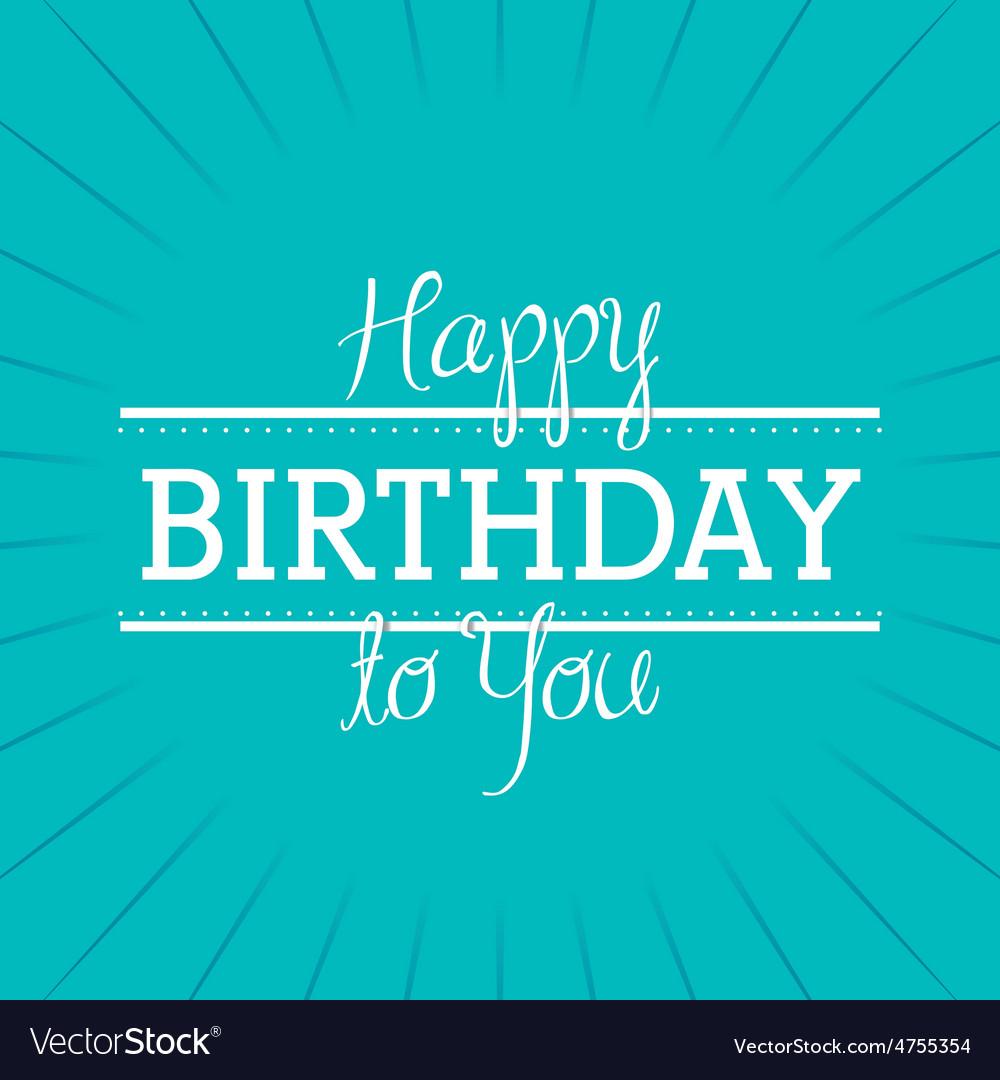 Happy birthday colorful card design vector | Price: 1 Credit (USD $1)
