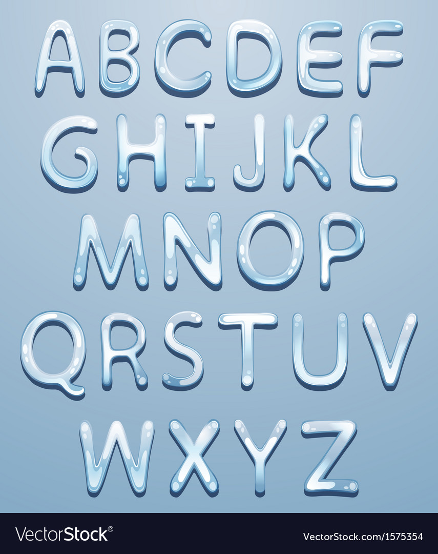 Ice alphabet vector | Price: 1 Credit (USD $1)