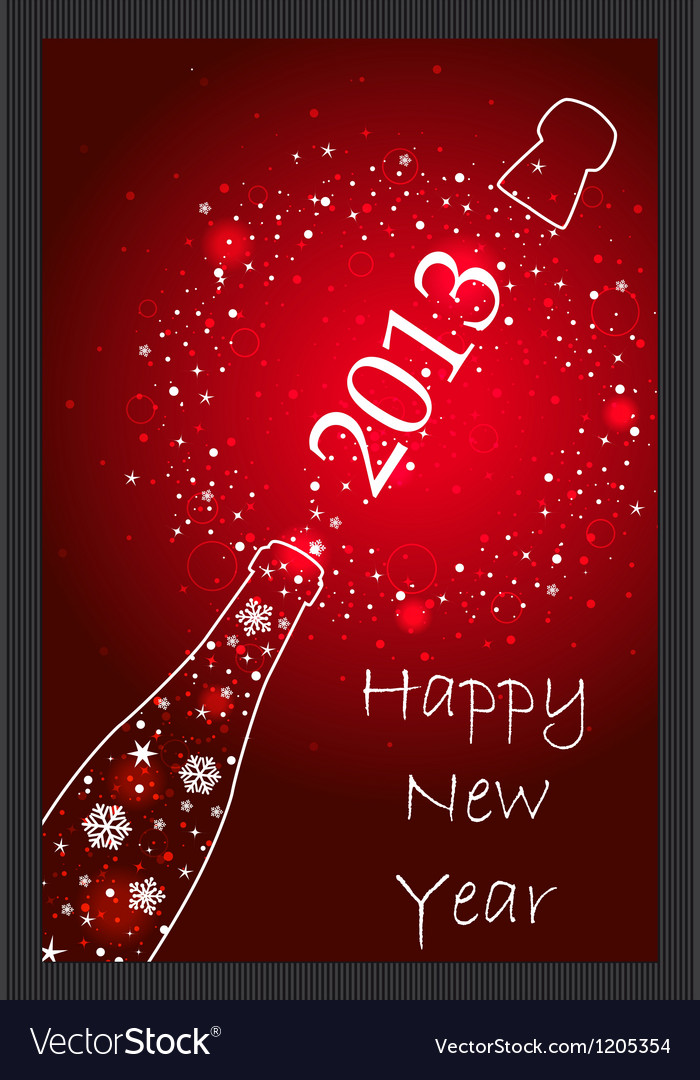 New year 2013 card vector | Price: 1 Credit (USD $1)