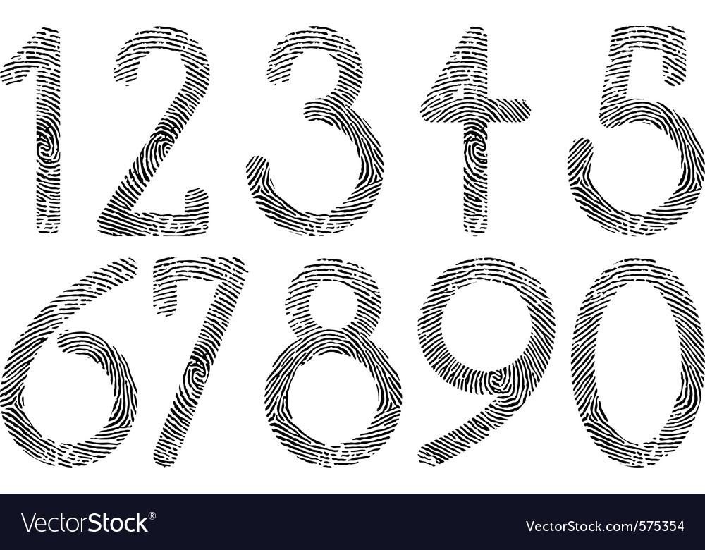 Numbers fingerprint vector | Price: 1 Credit (USD $1)