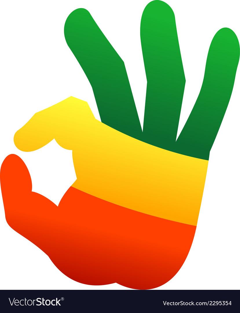 Okay human hand gesture sign vector | Price: 1 Credit (USD $1)