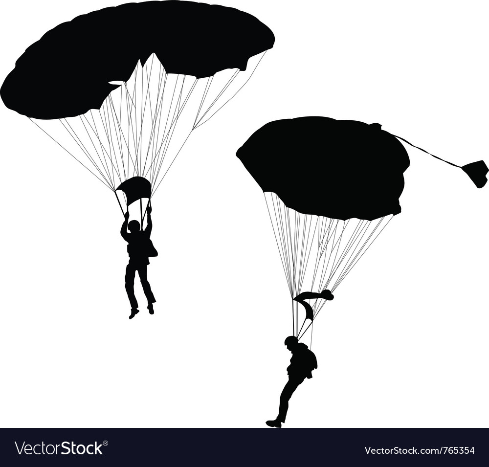 Skydiving vector | Price: 1 Credit (USD $1)