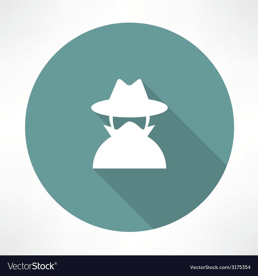 Spy agent icon vector | Price: 1 Credit (USD $1)