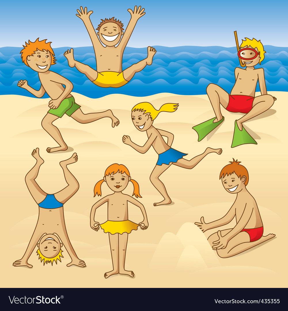 Beach fun vector | Price: 1 Credit (USD $1)