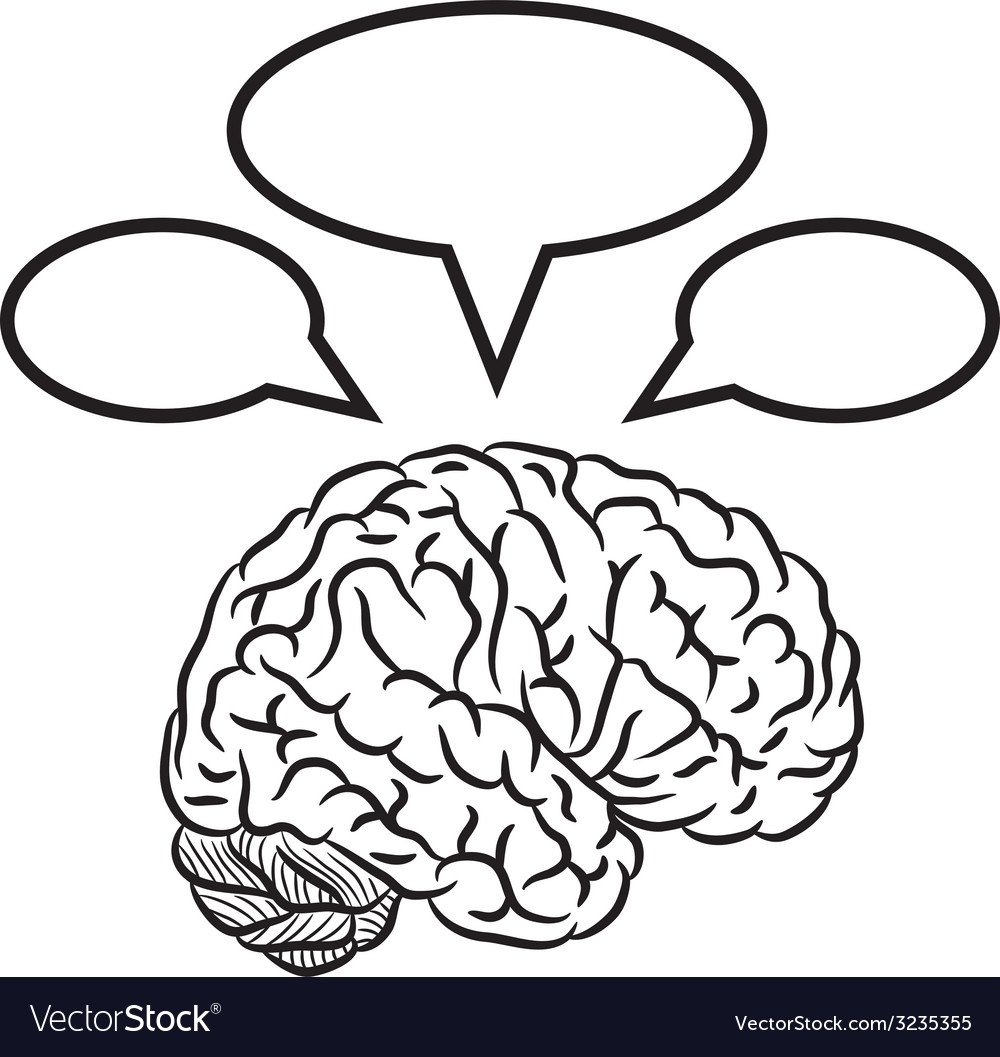 Brain with frames vector | Price: 1 Credit (USD $1)