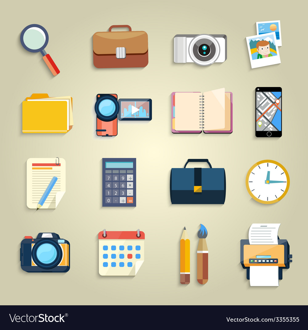 Business office and marketing items icons vector   Price: 3 Credit (USD $3)