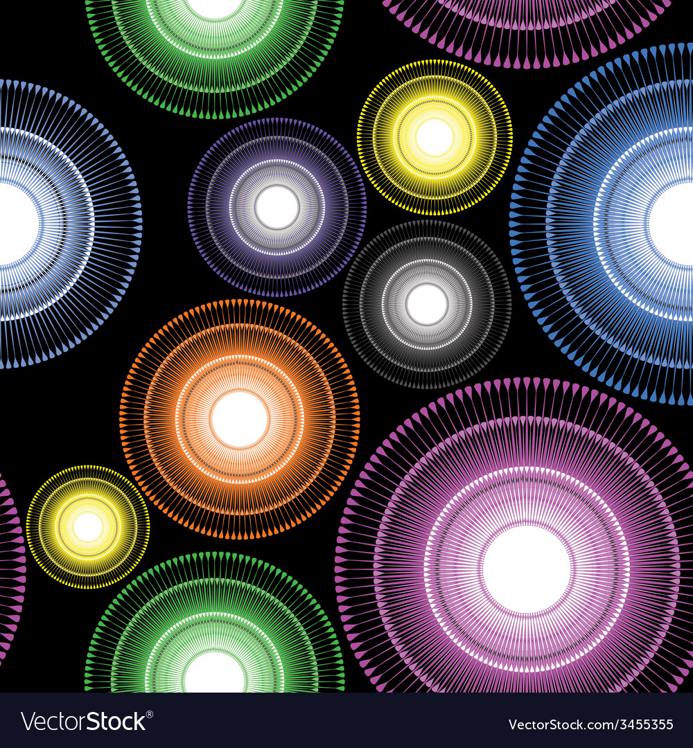 Colorful striped circle floral geometric elements vector | Price: 1 Credit (USD $1)