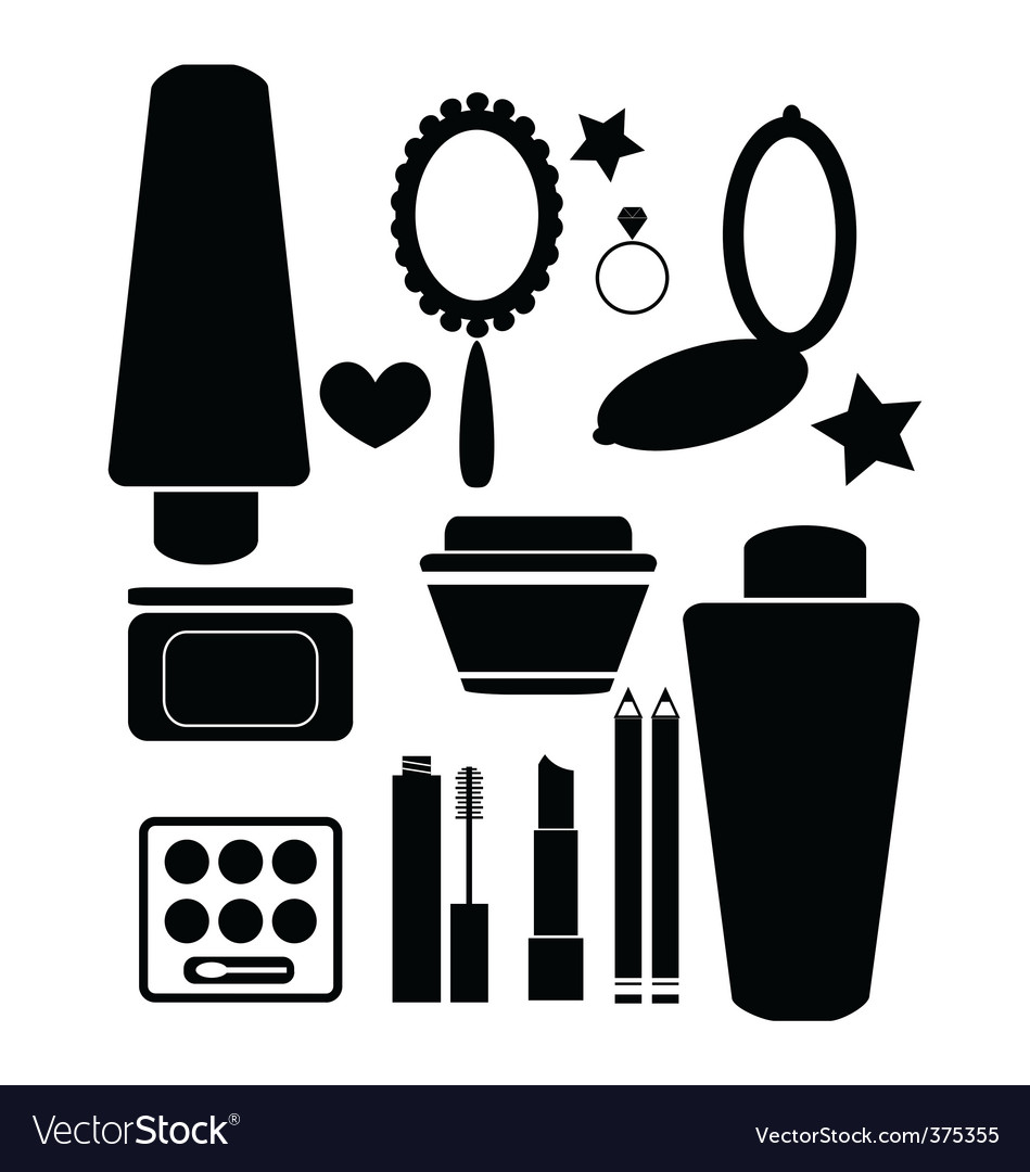 Cosmetics and beauty products vector | Price: 1 Credit (USD $1)