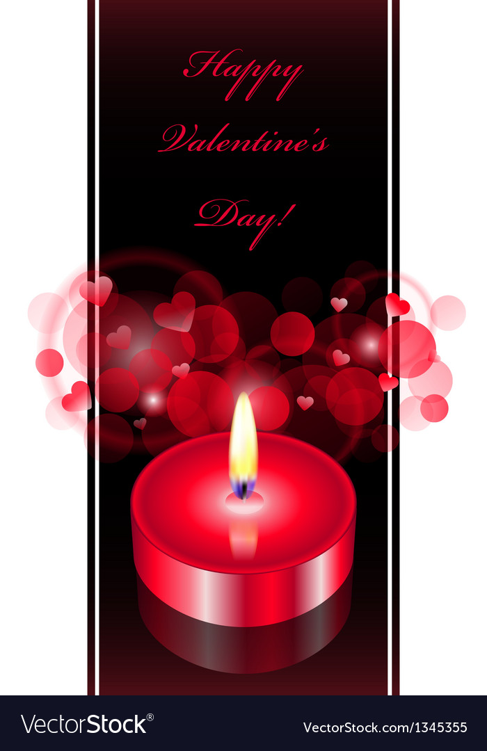 Romantic background with red candle vector | Price: 1 Credit (USD $1)
