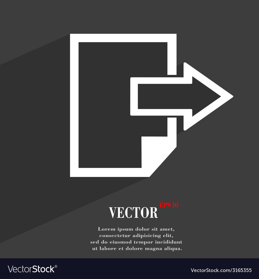 Send export file icon symbol flat modern web vector