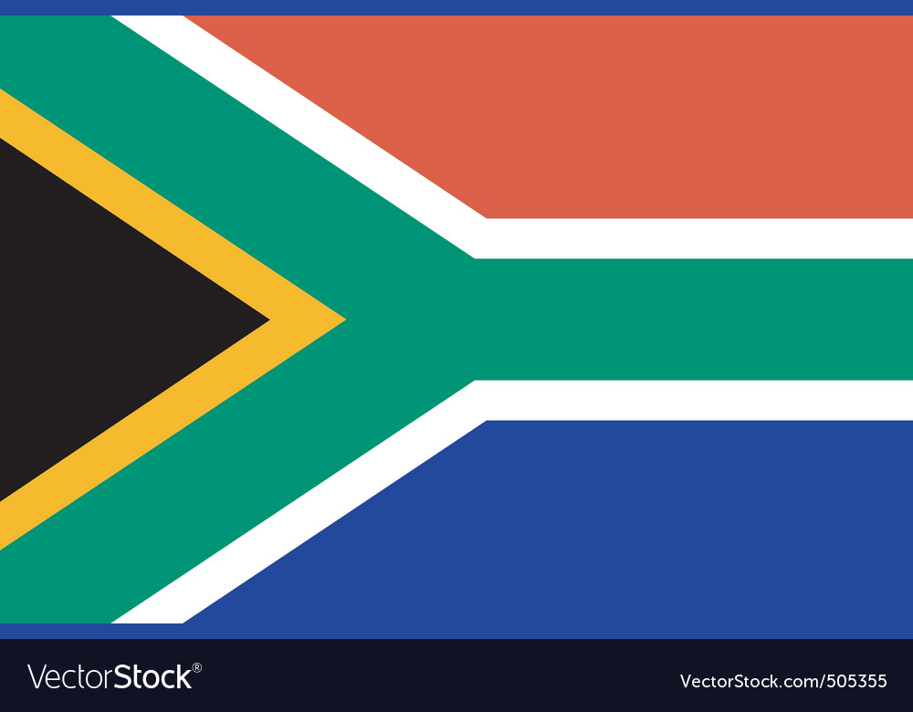 South african flag vector | Price: 1 Credit (USD $1)