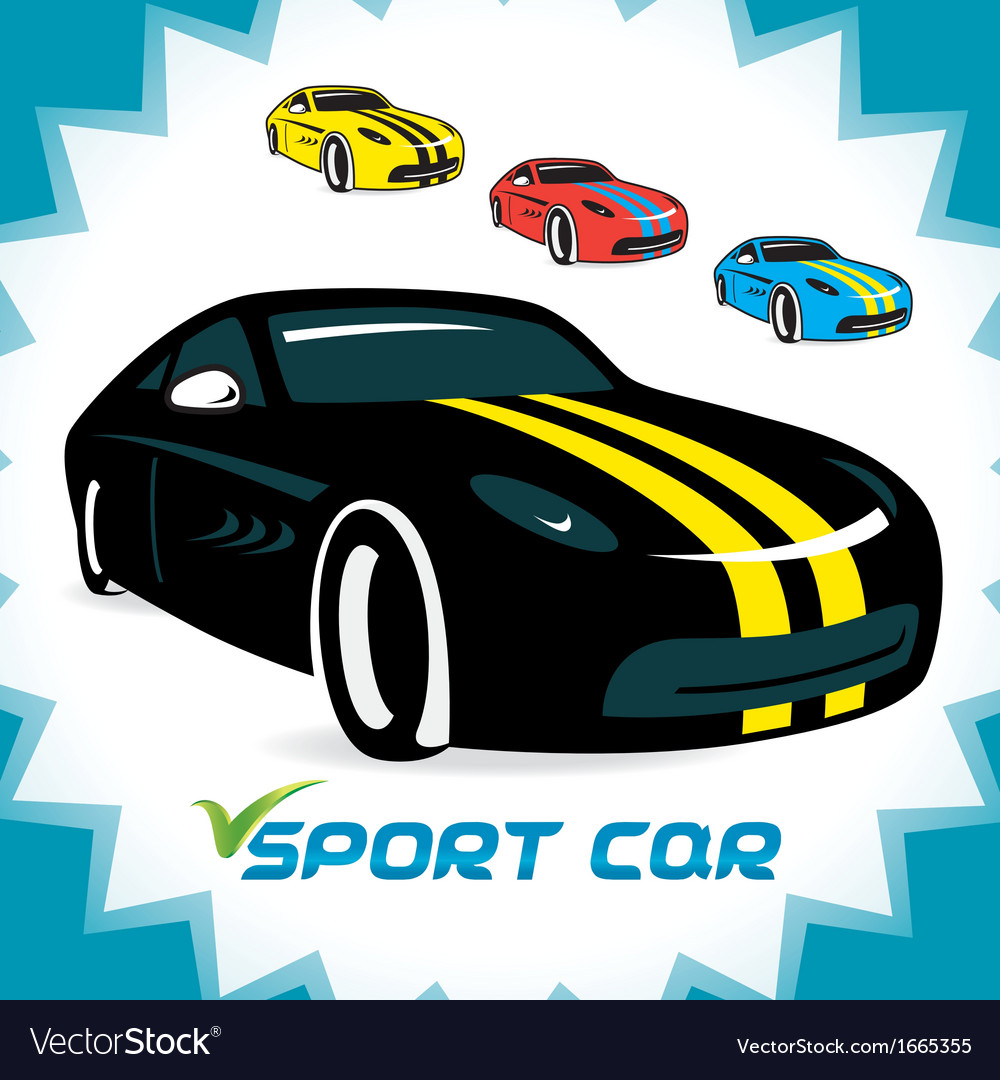 Sport cars icons vector | Price: 1 Credit (USD $1)