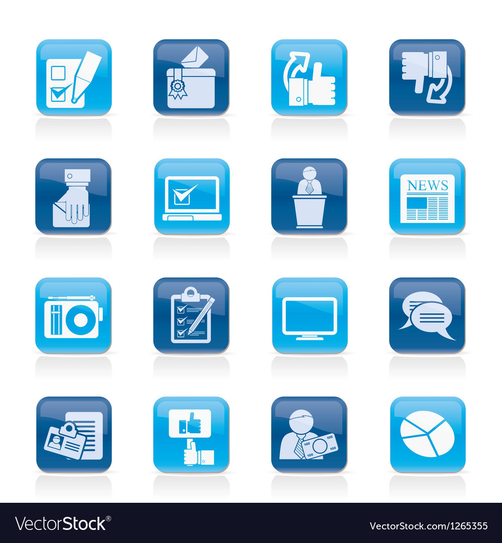 Voting and elections icons vector   Price: 1 Credit (USD $1)