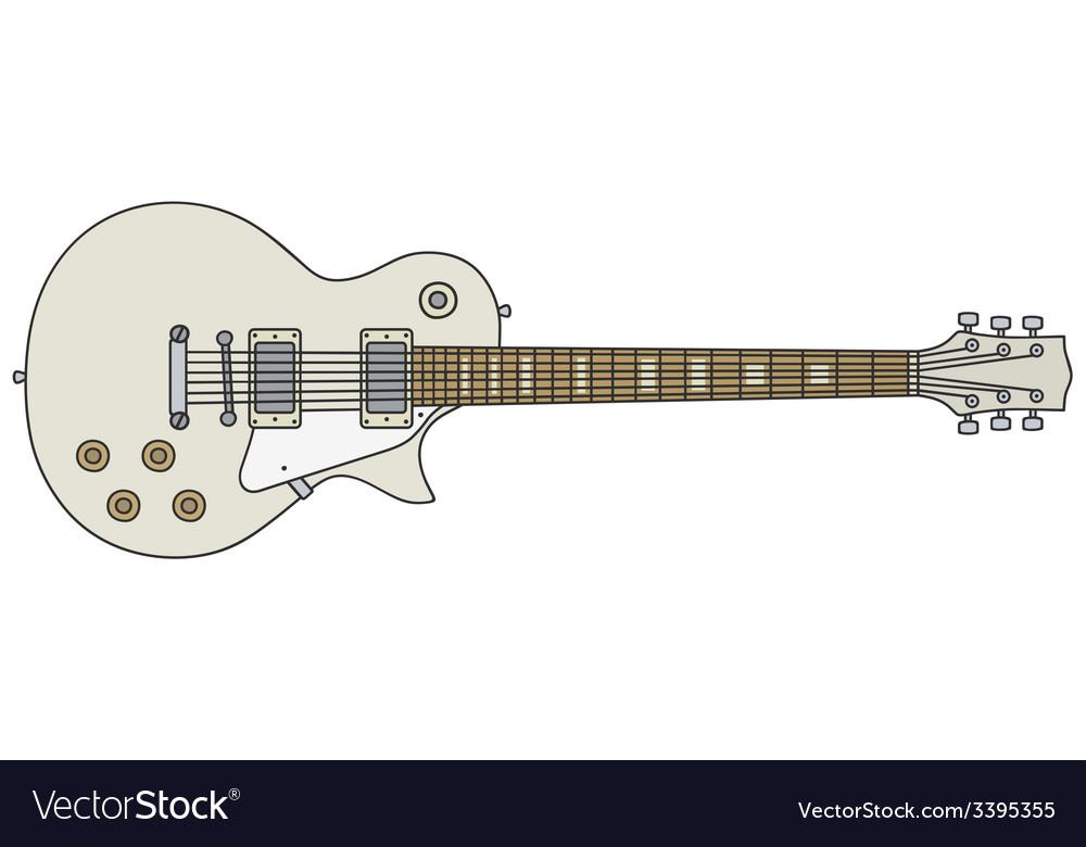 White electric gitar vector   Price: 1 Credit (USD $1)