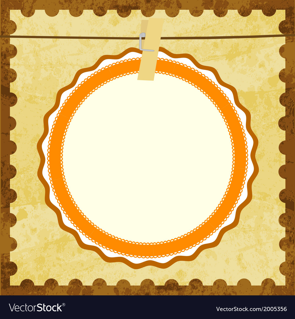 Abstract brown card vector | Price: 1 Credit (USD $1)