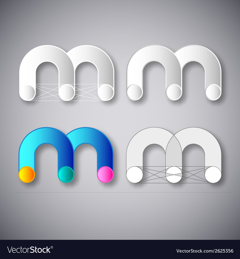 Abstract combination of letter m vector | Price: 1 Credit (USD $1)