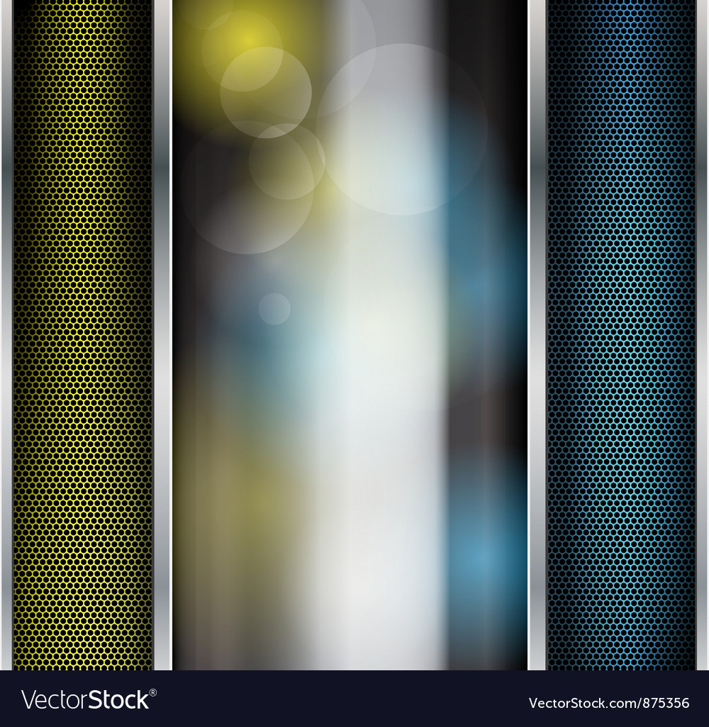 Abstract metallic background with glass banner vector | Price: 1 Credit (USD $1)